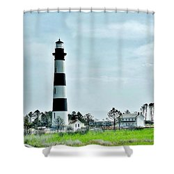 Bodie Island Lighthouse - Outer Banks North Carolina Shower Curtain by Kim Bemis