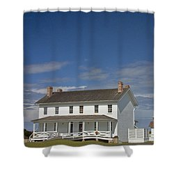 Shower Curtain featuring the photograph Bodie Lighthouse Obx by Greg Reed