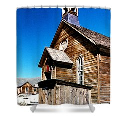 Bodie Methodist Church Shower Curtain by Barbara Snyder