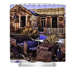 Shower Curtain featuring the painting Bodie by Muhie Kanawati