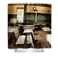 Shower Curtain featuring the photograph Bodie School Room by Lana Trussell