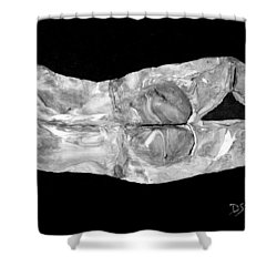 Body At Rest Shower Curtain