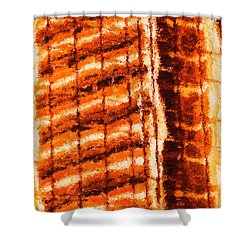 Body Heat Shower Curtain by Ayse Deniz