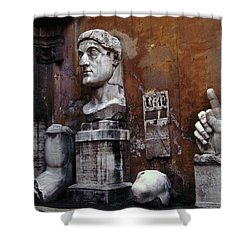 Body Parts The Colossus Of Constantine Rome Shower Curtain by Tom Wurl
