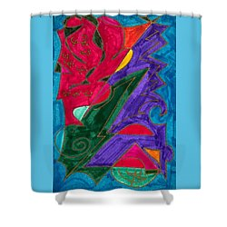 Shower Curtain featuring the mixed media Body Zero # 5 by Clarity Artists