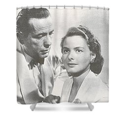 Bogart And Bergman Shower Curtain by Georgia Fowler