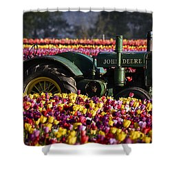 Bogged Down By Color Shower Curtain