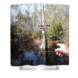 Bogger Woods Shower Curtain