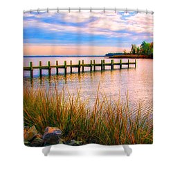 Bogles Wharf Landing Shower Curtain