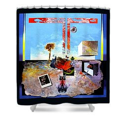 Shower Curtain featuring the painting Bogomil Objects by Otto Rapp