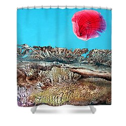 Shower Curtain featuring the painting Bogomil Sunrise 2 by Otto Rapp