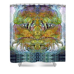 Shower Curtain featuring the digital art Bogomil Variation 11 by Otto Rapp