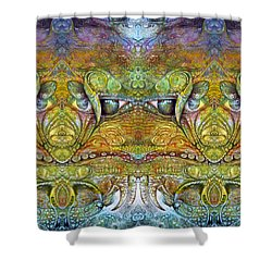 Shower Curtain featuring the digital art Bogomil Variation 12 by Otto Rapp