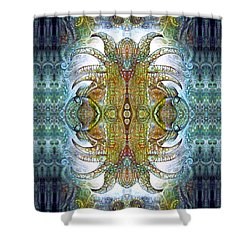 Shower Curtain featuring the digital art Bogomil Variation 14 - Otto Rapp And Michael Wolik by Otto Rapp