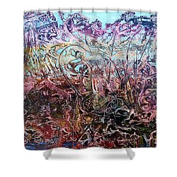 Shower Curtain featuring the painting Bogomils Vegetable Garden  by Otto Rapp