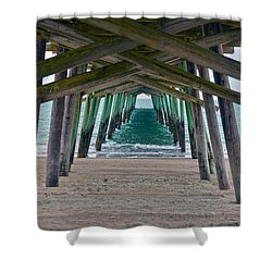 Bogue Banks Fishing Pier Shower Curtain