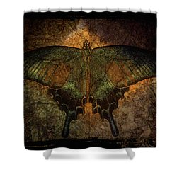 Shower Curtain featuring the digital art Bohemia Butterfly - Art Nouveau by Absinthe Art By Michelle LeAnn Scott