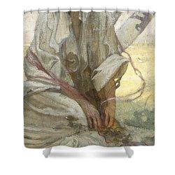 Bohemian Sun Dreamer Shower Curtain by Alphonse Marie Mucha