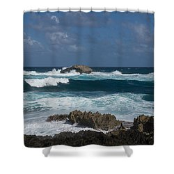 Boiling The Ocean At Laie Point - North Shore - Oahu - Hawaii Shower Curtain