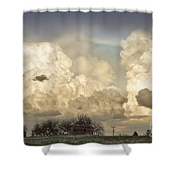 Boiling Thunderstorm Clouds And The Little House On The Prairie Shower Curtain by James BO  Insogna