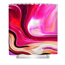 Bold Pink Abstract Shower Curtain by Carol Groenen