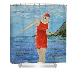 Bold Red Shower Curtain