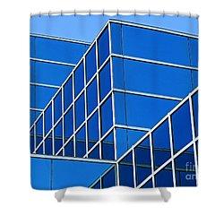 Boldly Blue Shower Curtain by Ann Horn