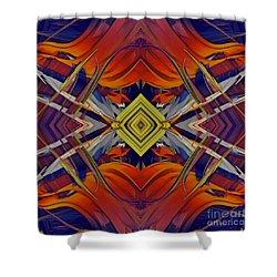 Boldness Of Color Shower Curtain by Deborah Benoit