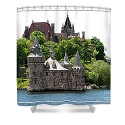 Boldt Castle And Powerhouse Shower Curtain by Rose Santuci-Sofranko