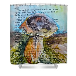 Shower Curtain featuring the painting Boletus Edulis by Beverley Harper Tinsley