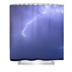 Bolts Of Lightning Arcing Through The Night Sky Shower Curtain by James BO  Insogna