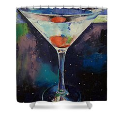 Bombay Sapphire Martini Shower Curtain by Michael Creese