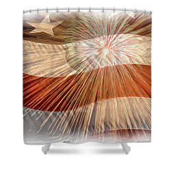 Bombs Bursting In Air Shower Curtain by Heidi Smith