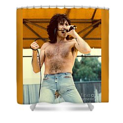Bon Scott Of Ac Dc At Day On The Green - July 1979 Shower Curtain