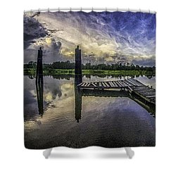 Bon Secour Panorama Shower Curtain by Michael Thomas