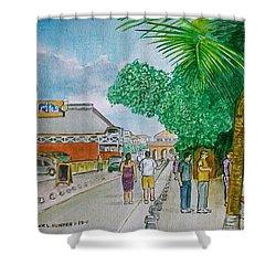 Bonaire Street Shower Curtain by Frank Hunter