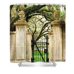 Bonaventure Cemetery Gate Savannah Ga Shower Curtain
