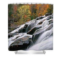 Bond Falls Upper Peninsula Michigan Shower Curtain