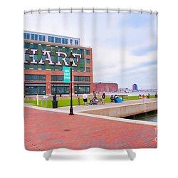 Bond Street Landing Baltimore Maryland Shower Curtain by Vizual Studio