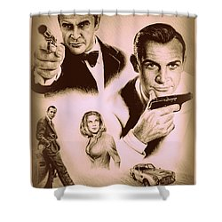 Bond The Golden Years Shower Curtain by Andrew Read