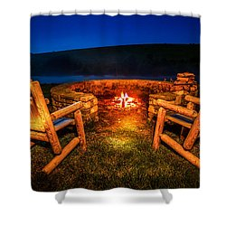 Bonfire Shower Curtain