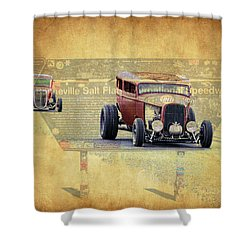Bonneville Rodz Shower Curtain