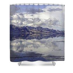 Bonneville Salt Flats Shower Curtain