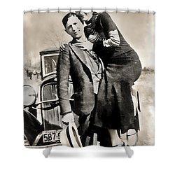 Bonnie And Clyde - Texas Shower Curtain by Daniel Hagerman