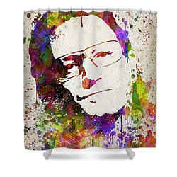 Bono In Color Shower Curtain by Aged Pixel