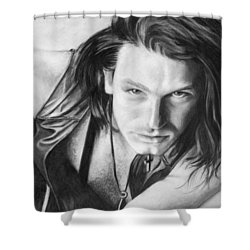 Bono Shower Curtain by Janice Dunbar