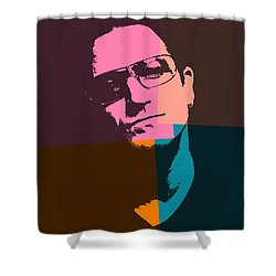 Bono Pop Art Shower Curtain by Dan Sproul