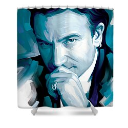 Bono U2 Artwork 4 Shower Curtain by Sheraz A
