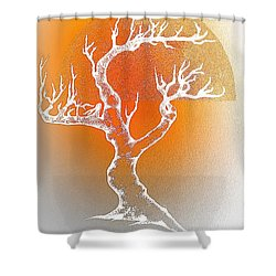 Bonsai Orange Shower Curtain by Greg Moores