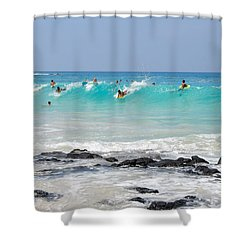 Boogie Up Shower Curtain by Denise Bird